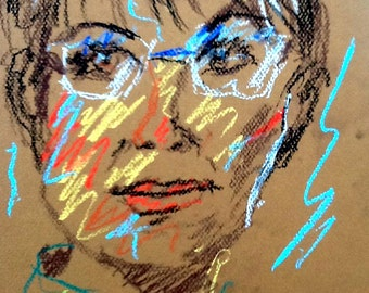 Original Pastel Sketch from Artisan - Sarah Palin