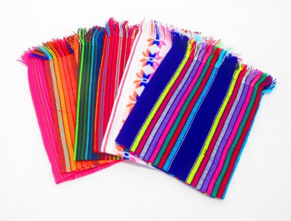 Mexican napkins bulk set of assorted by mexfabricsupplies