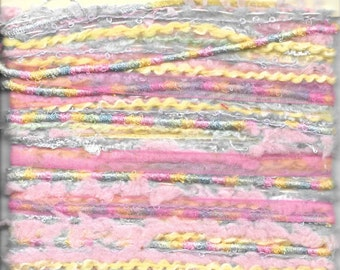Details Funky With Fibers Pastel Textured Yarn Ribbon Card Supply Luxurious Fibers  New In Package Modern Embellishment Craft Supply