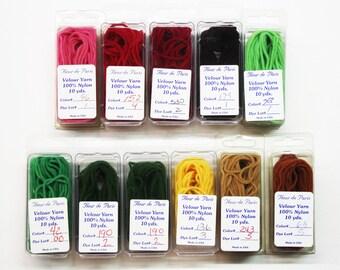 Velour Yarn  2.99 Each, Fleur De Paris Velour Yarn, Velvet Thread, Velvet Yarn, Kumihimo Braiding Threads, Needlework Velvet Threads, Yarns