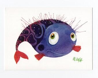 Aquarell fisch etsy - Fliesenaufkleber fische ...