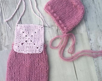 NEW!!! Knit baby dungarees,Knit set,dungarees,newborn dungarees,photo prop dungarees,knitting,knit hat, hat