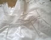 Long Wide Peasant Skirt White Cotton Quilt Handmade French Fleece Piqué Prairie Skirt Costume Wedding Boho Skirt