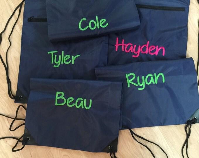 Draw String Back Pack/Back Pack/Drawstring Bag/Monogrammed Bag