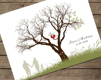 Guest book tree, wedding guestbook poster PRINT FILE, wedding tree print, guest book ideas, personalized wedding gift, wedding, guestbook
