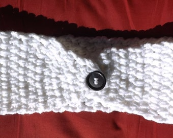 Crochet earwarmer White ear warmer crochet headband White crochet head band