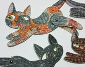 Cat Animal Paper Dolls Puppets Patterns Articulated Mechanical Animals Printable Animal Digital Downloadable Cats 0100