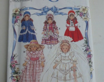 """Vintage Simplicity 8766 16"""" and 18"""" Doll Clothes Pattern - OOP"""