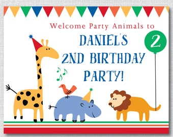 Animal party Etsy