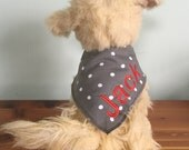 Dog Bandana, Personalized Bandana, Personalized Dog Bandana, Pet Bandana, Dog Scarf, Dog Gift, Pet Gift, Dog Accessories, Dog, Pet