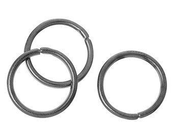 "Open Jump Rings Round Gunmetal 10.0mm( 3/8"") Dia, 500 PCs"