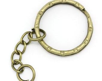 Key Chains & Key Rings Antique Bronze 5.3cm,30PCs
