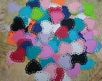 Scalloped Edge Hearts/Doilies   #QA-1
