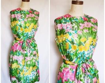 1950s Spring Garden Dress