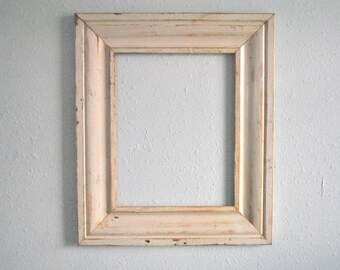 11 x 14  Creamy Window Molding Wood Frame, Farmhouse Decor. Reclaimed, one-of-a-kind