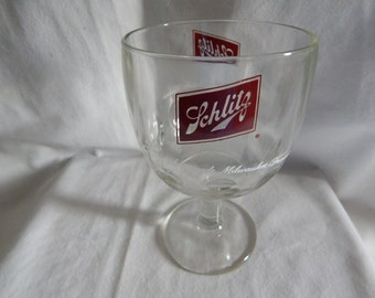 Vintage Schlitz Beer Glass Goblet