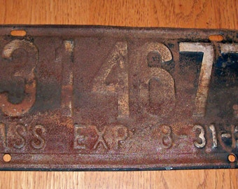 Vintage 1939 MICHIGAN License Plate