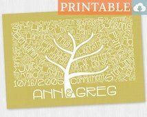 Sentimental Wedding Gift For Parents : Tree Anniversary Gift for Parents, Sentimental Gift for Wife, Wedding ...