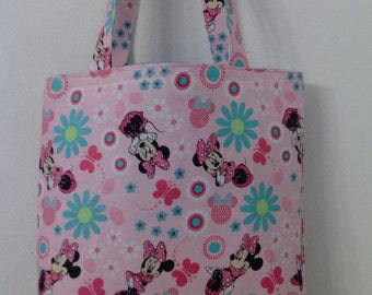 Minnie Mouse Inspired Pink Tote for Girls, Toddler