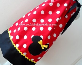 Minnie Mouse Classic Red Polka Dot Pillowcase Dress with Yellow Trim
