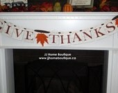 Give Thanks - Thanksgiving Banner