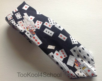 Adult Playing Cards fabric tie Ready to ship