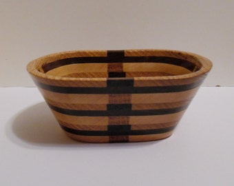 Small Handcrafted Wooden Rectangular Bowl