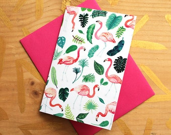 Flamingo Fête Card
