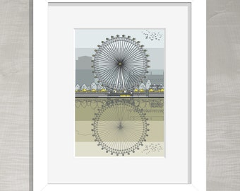 Architectural Print - London Eye
