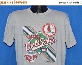 July XMAS SALE 1987 Minnesota Twins St Louis Cardinals World Series t-shirt Large
