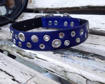 "1"" original leather dog collar"