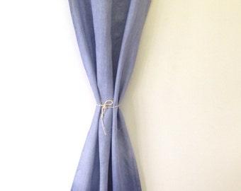 Navy blue ombré effect curtain /drape