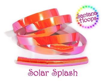 UV Solar Splash Color shifting Morph Taped Performance Hula Hoop Polypro or HDPE