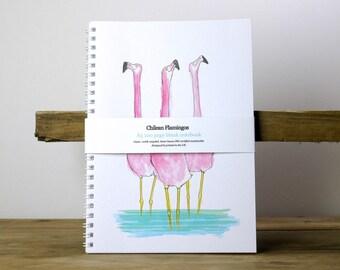 Flamingo A5 quality blank notebook