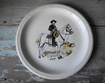 """Hopalong Cassidy 9.5"""" Plate by W.S. George"""