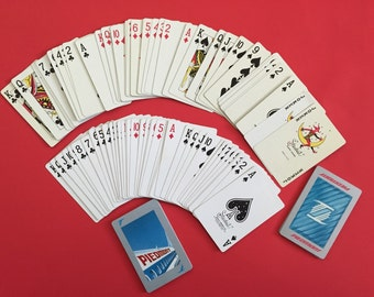 Vintage Piedmont Airlines Playing Cards- 2 Decks