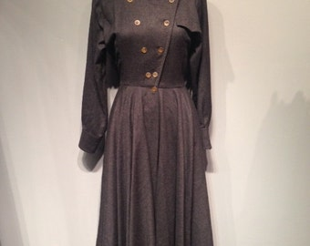 Louis Feraud Grey Wool Dress