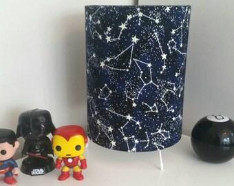 Glow in the Dark Space Fabric Lamp