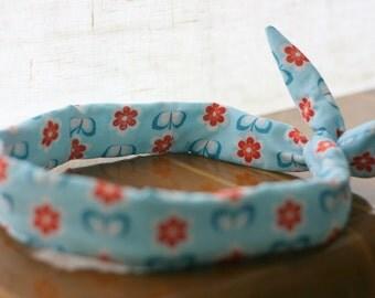 This retro - headband - bow - vintage flowers headband
