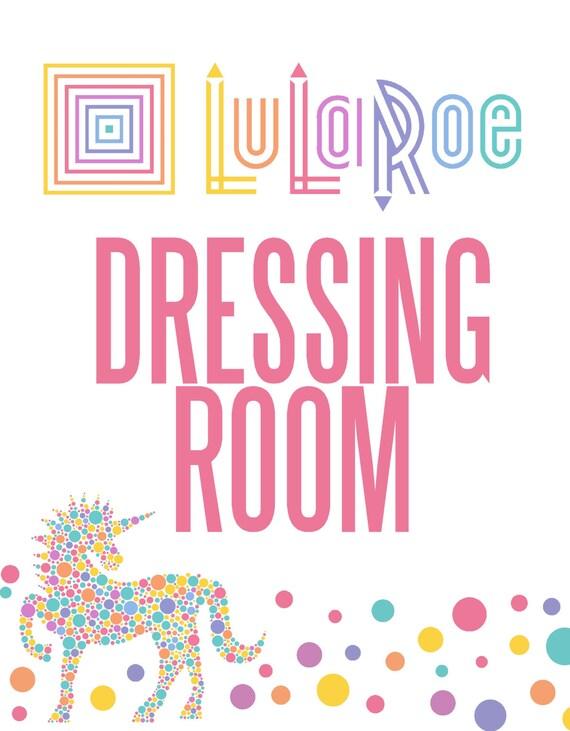 LuLaRoe sign unicorn dressing room Changing by ...