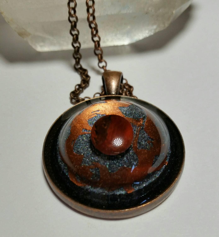 Saa orgone energy pendant emf device molten lava mozeypictures Gallery