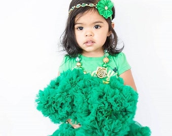 Green and Gold headband,Christmas Headband, Newborn, Bride, Holidays Headband, Props, Smash Cake Pictures, It's a girl, Tiara, Newborn