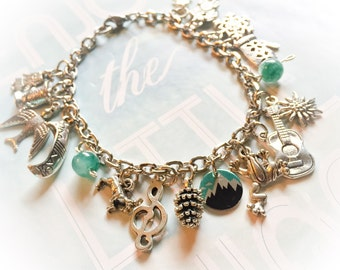 The hills are alive, Sound of Music charm bracelet, Sound of Music bracelet, Sound of Music jewelry, Sound of Music, movie jewelry