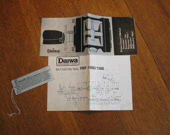 Vintage Daiwa Procaster Owners Manual and Schematic  (FREE SHIPPING)