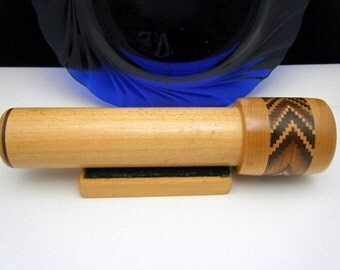 Awesome Carved Wood Kaleidoscope with Stand Collectors Estate Item