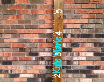 Personalized hand painted growth chart first and middle name or first and last name