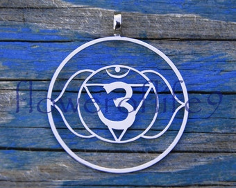 6th Chakra pendant (1 3/8 inch) - Stainless Steel