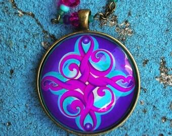 The Rebirth mandala pendant