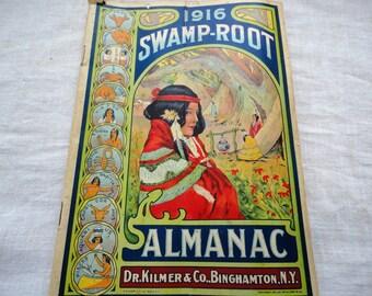 Antique 1916 Swamp Root Almanac Advertising Magazine Dr. Kilmer Co Binghamton NY  Remedy  Medicine