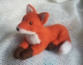 Fox Felt Miniature Animal Needle felted from Wool